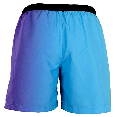 GUGGEN MOUNTAIN Maillot de bain pour homme de materiau high-tech slip shorts motif *High Quality Print* Lilas Bleu