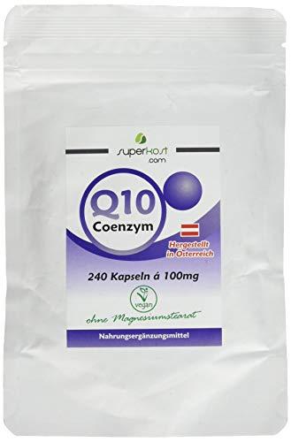 240 Kapseln SUPERKOST Coenzym Q10 - CoQ10 100mg, 8 Monatspackung, Anti Aging, Haut, Herz, Kreislauf, Immunsystem, vegetarisch, Hergestellt in Österreich