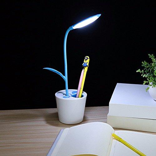 Ehime Das Mobilteil aufladen Viertel hinterlässt eine kleine Schreibtischlampe Auge Studierenden Schreibtische Schlafzimmer Bett lesen Schreibtisch blaue Energie