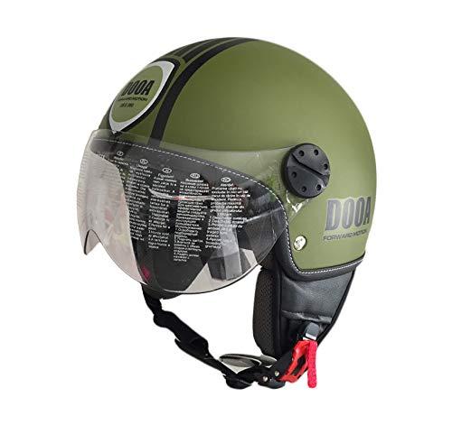 DOOA Casco Demi Jet CS16D Verde militare Dark Green Fashion helmet (XL)