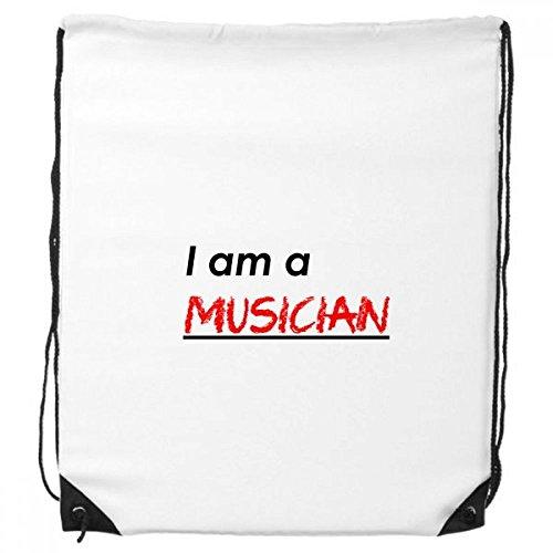 DIYthinker Zitat Ich Bin Ein Musiker-Rucksack Einkaufs Gift Sporttaschen (Musiker Rucksack)