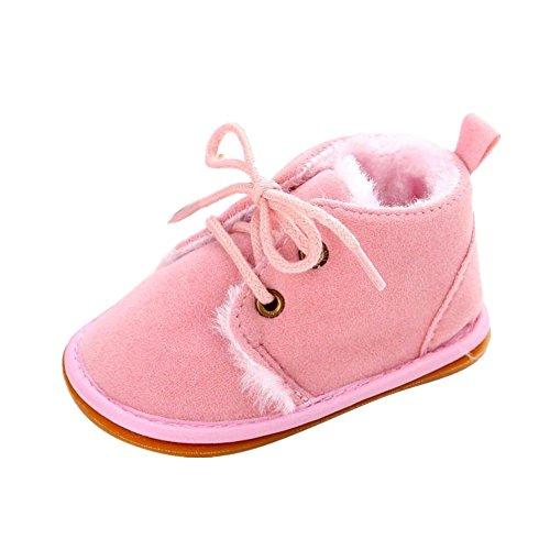 Tefamore Zapatos Bebe Botas de Matin Caliente para Primeros caminantes (Tamaño:2, Rosa)