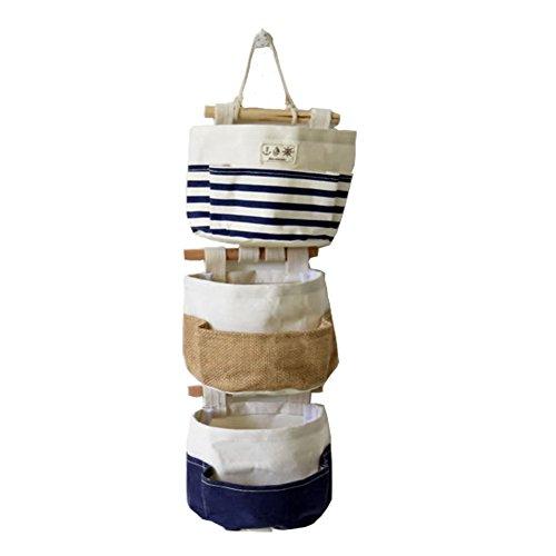 Fieans Hängeorganizer,Wand hängenden 3 Tasche Hanging Storage Bag/Hängende Kombination/Wand Hängen Hängeorganizer/Hängende Tasche-Blau