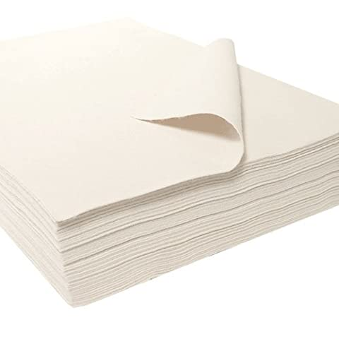 Synthetic Craft Felt Packages (25pcs/pack), approx. 22 x 30 cm, White - Feltro Bianco