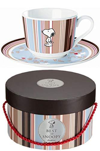 of Snoopy - Tasse mit Untertasse Flower Strip in Hochwertiger Schatulle