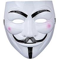 1 x Costume adulti PVC qualità maschera con cinturino in velcro eslasticated V per Vendetta Guy Fawkes viso maschera fantasia Halloween disponibile in 1 2 5 e 10 Costumeplay Multip-confezioni da Ultra