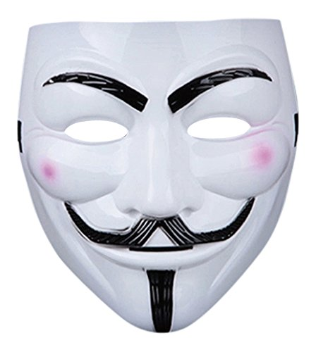 chsene PVC-Qualitätsmaske mit Klettverschluss Elastischer Gurt V für Vendetta Guy Fawkes Gesichtsmaske Fancy Halloween Erhältlich in 1 2 5 und 10 Multi-Packs Costumeplay von Ultra (Kaufen Fancy Dress Kostüme)