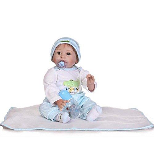 Doll Soft Vinyle Silicone Réaliste Reborn Bébé/Poupée Simulation Corps Tissu Mignon Creative Gifts Boy Girl Gift 55Cm/21.6 inch HOJZ,C