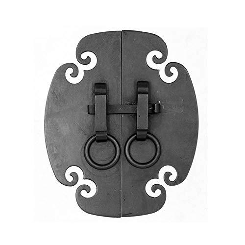 Golpeador de cobre chino, manija de puerta antigua de la cerradura de