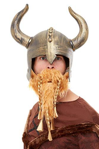 Smiffys 50730 - Casco vikingo para hombre, color dorado