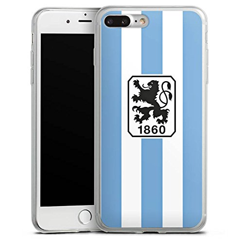 Apple iPhone 8 Slim Case Silikon Hülle Schutzhülle TSV 1860 München Fanartikel Fußball Silikon Slim Case transparent