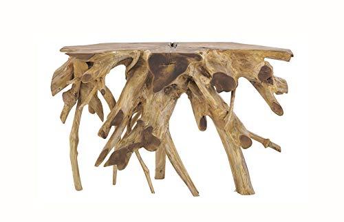 Console 120 cm en Racine de Teck - Meuble Style Exotique,Cosy Naturel, Chalet Chic - THEKKU 2