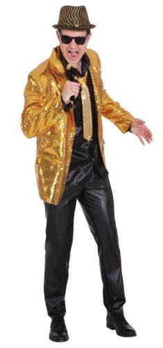 Preisvergleich Produktbild Show Jacket gold Pailletten Herren Kostüm Karneval Fasching Gr.52 / 54