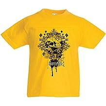 lepni.me Camiseta para Niño/Niña Heretic, diseño de Calavera ...