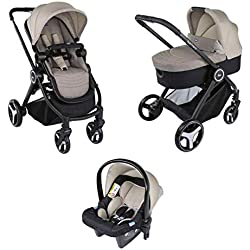 Chicco Trio Best Friends 00079146140000 Cochecito, 0 Meses +, Beige (Light)
