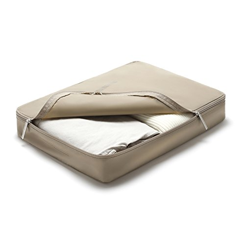 LIGHT FLIGHT Packwürfel Business Resien Leichtgewichitige Packing Cubes Beige (36 x 33 x 8 cm)