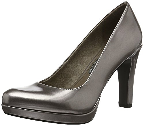 Tamaris Damen 22426 Pumps, Grau (Pewter 915), 38 EU
