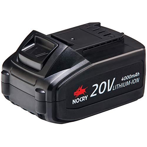 NoCry 20V Lithium Ionen Akku - Wiederaufladbarer 4,0 Ah Akku NUR für NoCry Akku-Werkzeuge