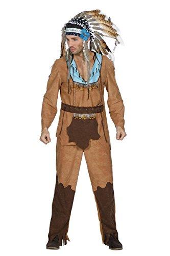 Kostüm Lustige Haloween - Wilbers Herren Kostüm Indianer Indianerkostüm Karneval Gr.52