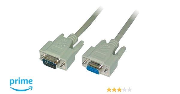 m/ännlich//weiblich, 2-fache Abschirmung, Ferritkern LogiLink VGA Monitor Verl/ängerungskabel 3m HD DSUB 15-pin schwarz