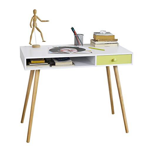 Sobuy® scrivania con cassetto,porta pc,tavolo per computer, fwt24-w,it