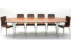 Table à manger extensible noyer 270 x 100 MILAN