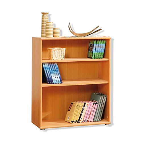 NEWFACE Regal, Buche, 72 x 34 x 85,4 cm (Buche Bücherregal)