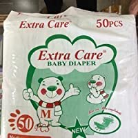 Extra care Baby Diapers with Extra Absorb Medium Size with 50 Count