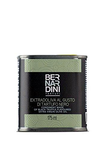 Olio extravergine di oliva al tartufo nero, latta 175ml - bernardini tartufi