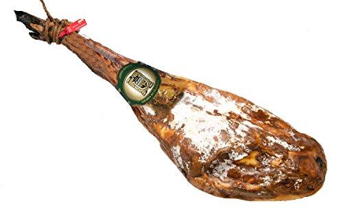 Jamón Ibérico Pata Negra de Guijuelo. Certificado de bellota. Curación más de 36 meses y peso de 8 a 8,5 kg.