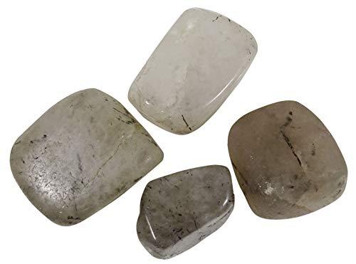 HARMONIZE Negro Rutilo Piedra roulées tamaño clasificado Piezas Piedras- 4 Reiki Naturel