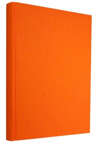 Libro visitatori A4 Maxi arancio +++ 200 fogli di Carta a mano +++ LIBRO DEGLI OSPITI per 'momenti indimenticabili' +++ qualità originale Semikolon