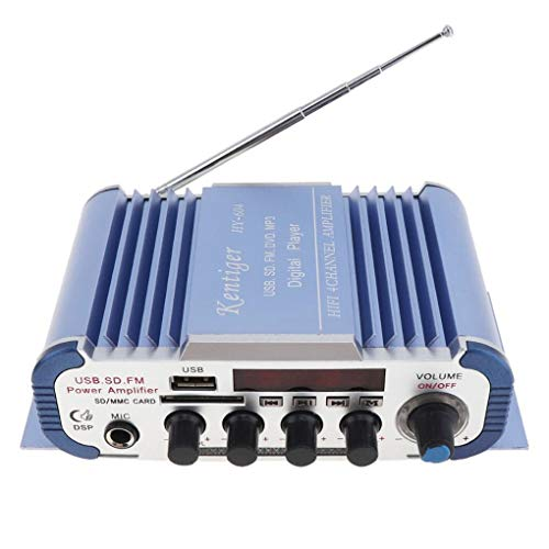 Ben-gi Kentiger HY-604 4x42W Hallo-Fi Car Audio Verstärker Nachhall Funktion Unterstützung USB/SD/DVD/Mikrofon-Eingang FM-Radio-Player -