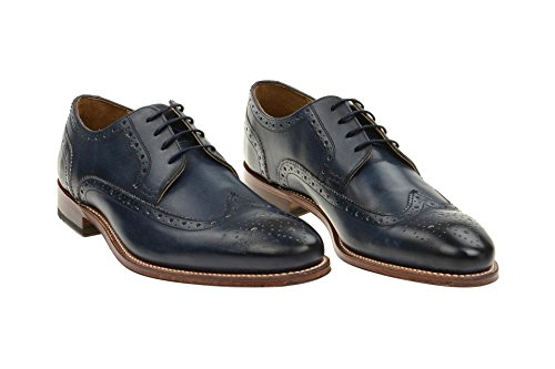 Derby amp; Sapatos Bros Homens Sapatos d Vestido Fabian 5093 Acima Goodyear De Dos Homens De Sapatos Brogues Laço Alameda Negócios Gordon Sapatos Azul UqFdHnUx