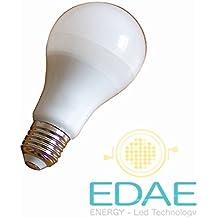 Bombilla LED E27, 11W equivalente a 80W, luz fría 5500K, Fabricante Español.