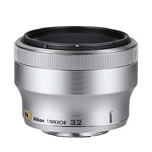 Nikon Objectif 32mm f/1,2 Argenté pour Nikon 1