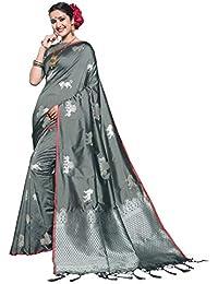 5780eeae4f950 Vanishri Women s Rich Zari Weaving Pallu Silk Saree with Blouse (Copper