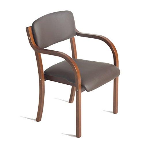SUBBYE Chaises Fauteuil En Bois Massif Nordique Dossier Moderne Chaise À Manger Chaise Chaise D'ordinateur Couleur En Option ( Couleur : Café , taille : 3 pieces )
