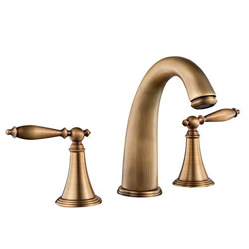 GCCLCF Wasserhahn Küchenarmaturen Waschraumarmaturen Geteilte Karosserie,Brass