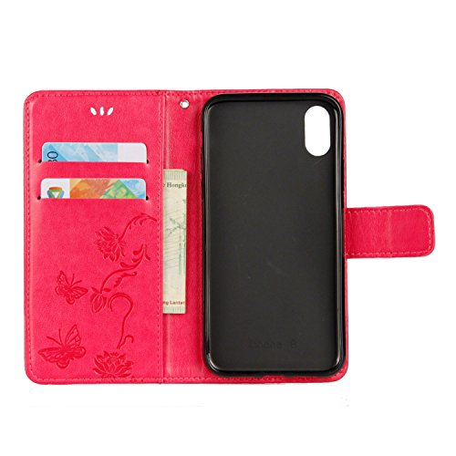 Cover iPhone X, Sportfun Custodia Portafoglio In Pelle Con Wallet Case Cover Per iPhone X con Porta Carte e Funzione Stand (08) 08