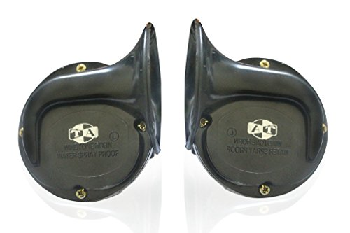 vheelocityin car/ motorcycle black trumpet horn Vheelocityin Car/ Motorcycle Black Trumpet Horn 41IcATHcJAL