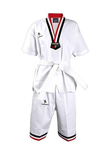 HYSENM Erwachsene/Kinder Kampfsportanzug Taekwondo Anzug Kurz Sommer, XXXL(1,9m)