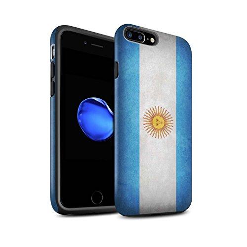 Coque Matte Robuste Antichoc de STUFF4 / Coque pour Apple iPhone 7 Plus / Albanie/Albanais Design / Drapeau Collection Argentine/argentin