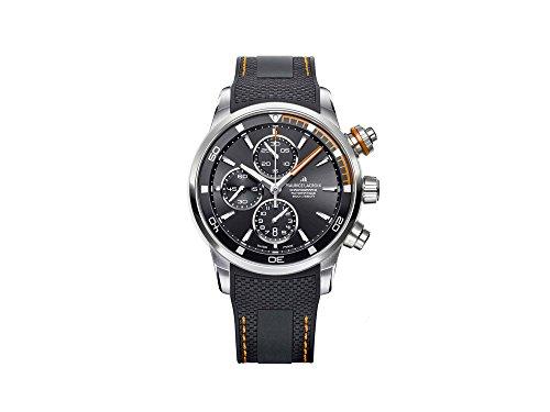 Reloj Automático Maurice Lacroix Pontos S Chronograph, ML 112, Negro-Naranja
