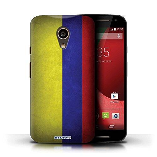 Kobalt® Imprimé Etui / Coque pour Motorola Moto G (2014) / Ghana conception / Série Drapeau Columbia/Colombie