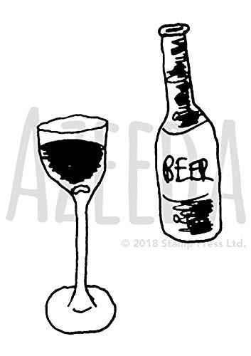 (A7 'Glas Wein' Stempel (Unmontiert) (SP00009334))