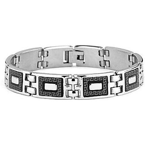 Catena e Charm Wrap Bangle 220 millimetri MK acciaio inossidabile 316L degli uomini del braccialetto di collegamento