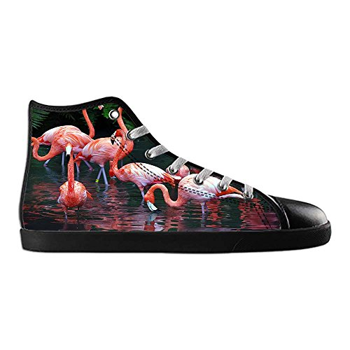 Dalliy Pink Flamingo Men's Canvas shoes Schuhe Lace-up High-top Sneakers Segeltuchschuhe Leinwand-Schuh-Turnschuhe C