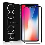 Pellicola iPhone X, G-Color Pellicola Protettiva [3D Vetro Temperato] iPhone X / iPhone 10 Alta Definizione Antigraffio [Facile da Installare] Pellicola Vetro per Apple iPhone X / iPhone 10, Nero -(Garanzia a vita)