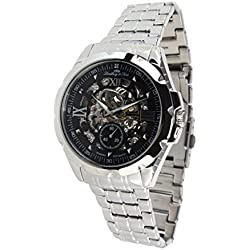 Lindberg&Sons - SK14H026 - wrist watch for men - skeleton - automatic movement - analog display - stainless steel bracelet
